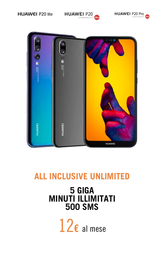 offerta all inclusive huawei p20