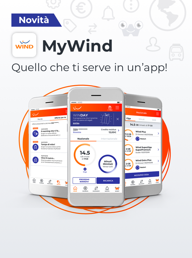 My Wind quello che ti serve in un'app