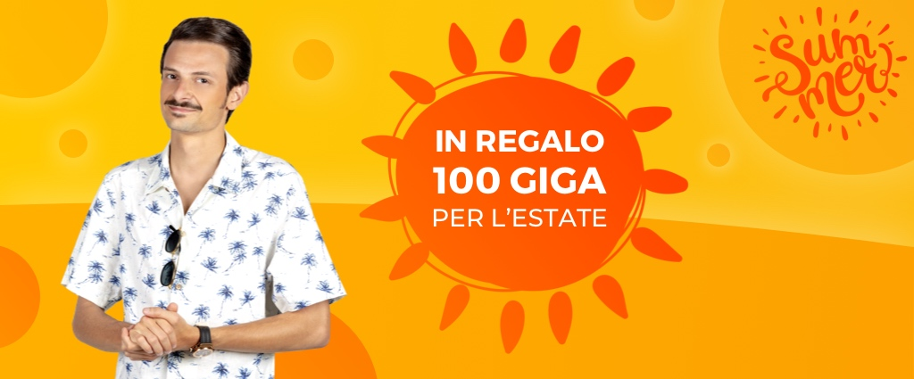 in regalo 100 giga per l'estate