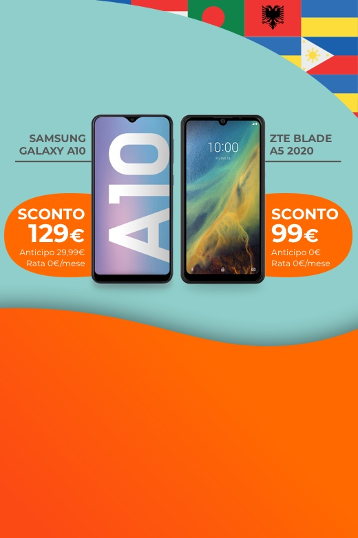 Promo su Samsung A10 con Call Your Country - WINDTRE
