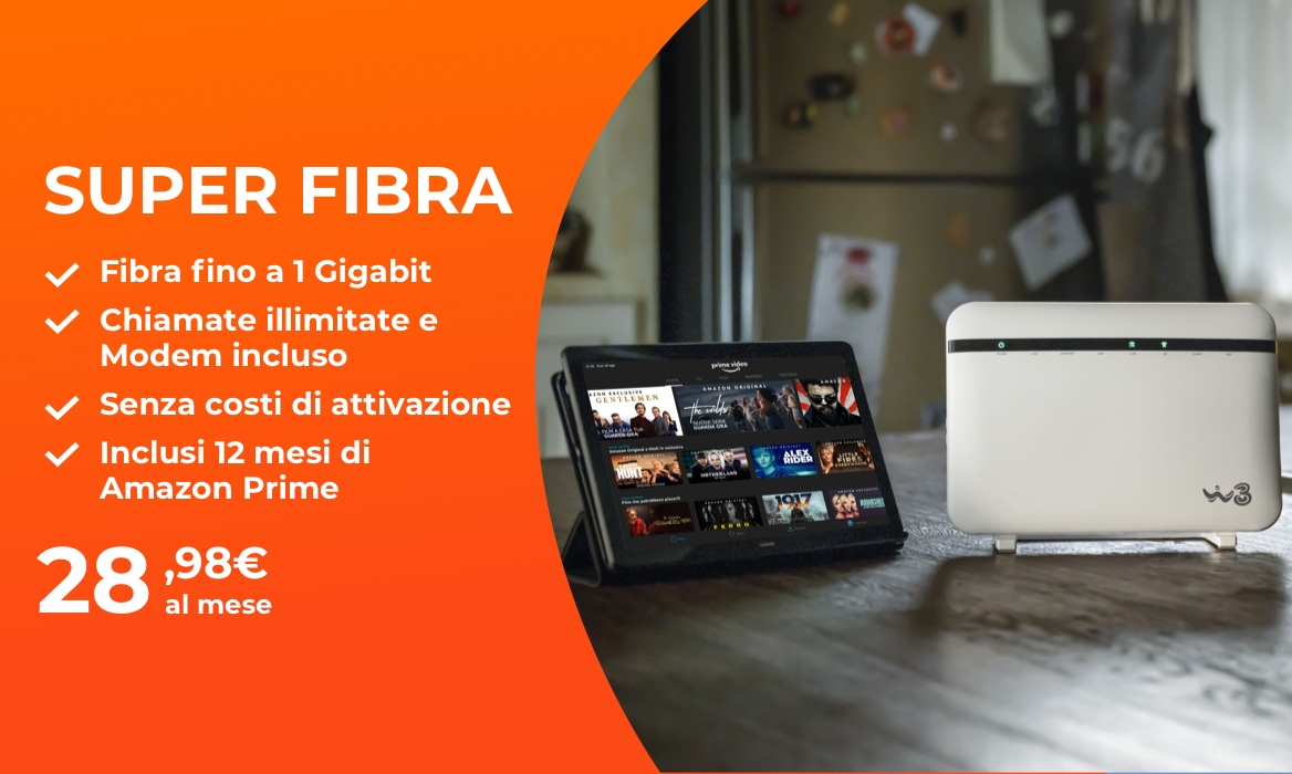 Super Fibra con Amazon prime e Modem inclusi - WINDTRE