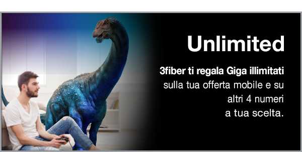UNLIMITED - GIGA ILLIMITATI CON 3FIBER