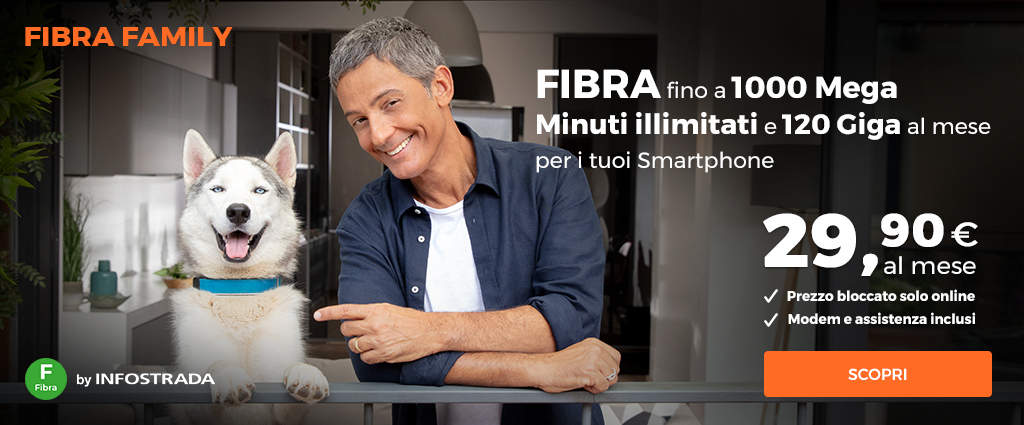 FIBRA1000 Unlimited by Infostrada, fibra 1000 Mb/s e 100 Giga