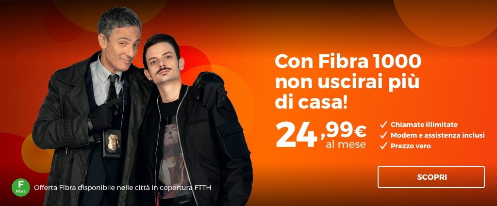 FIBRA 1000 Unlimited by Infostrada, Fibra fino a 1000 Mb/s e 100 Giga al mese in regalo
